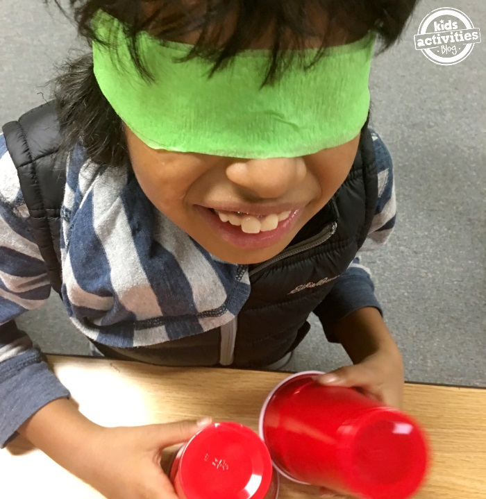 stem challenge with plastic cup