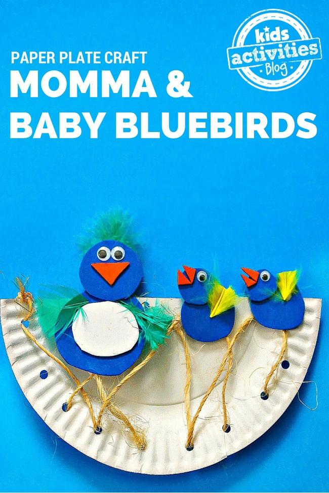 BLUEBIRDS PAPER PLATE CRAFT
