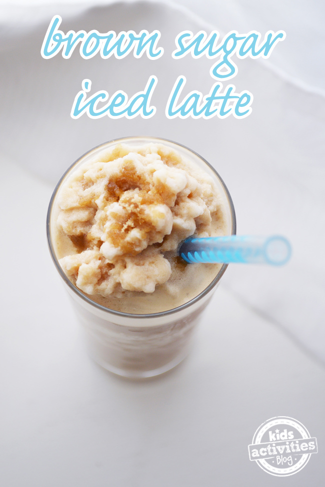Brown sugar iced latte text