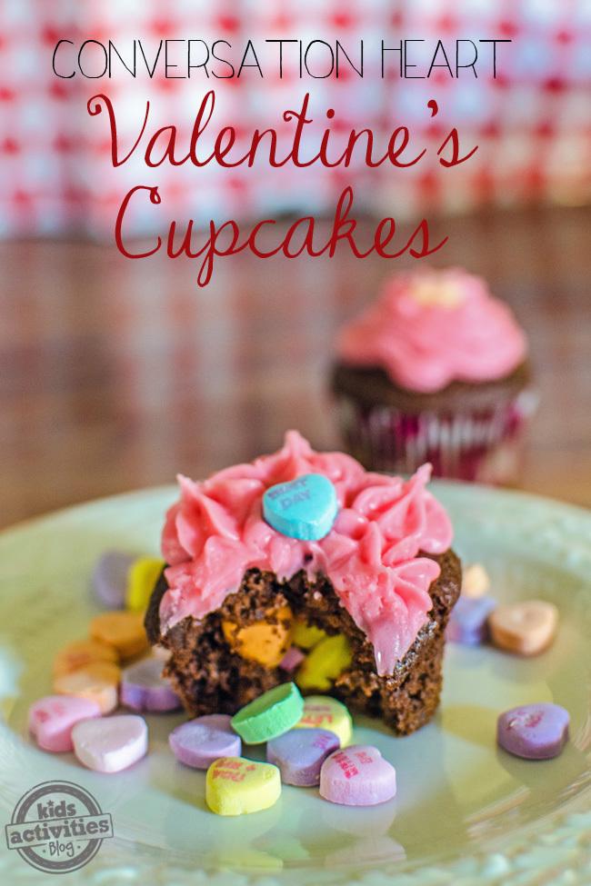 Conversation Heart Valentines Cupcakes