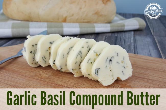 Garlic Basil Compound Butter