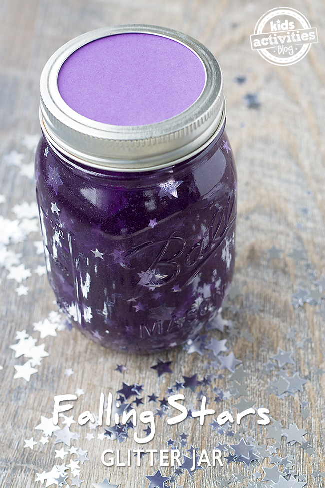 Soothing and relaxing, this Falling Stars Glitter Jar is perfect for mindfulness and calming children down.
