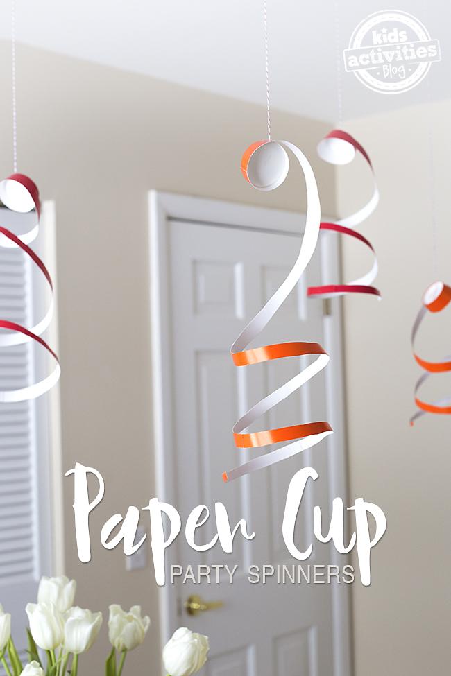 Ces Spinners Party Cup en papier sont une décoration si facile pour tout type de célébration !