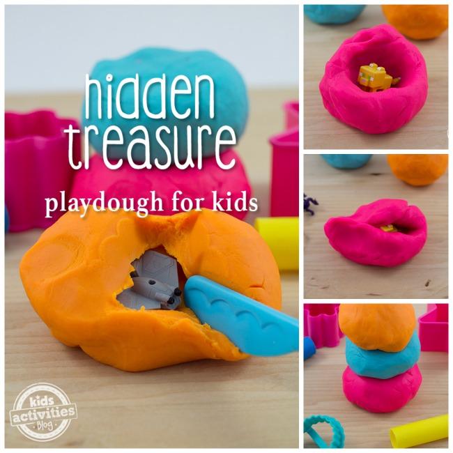 Hidden Treasure Playdough for Kids
