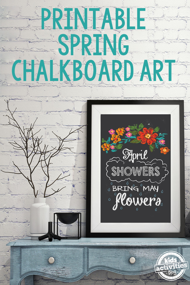Printable Spring Chalkboard Art