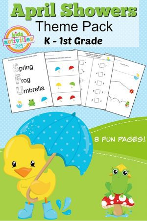 Spring Printable Kindergarten Worksheet Pack