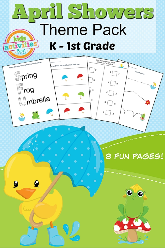 Spring Printable Kindergarten Worksheet Pack For Home Or ...