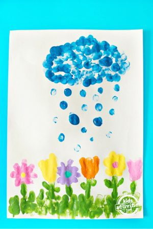 fingerprint flowers craft