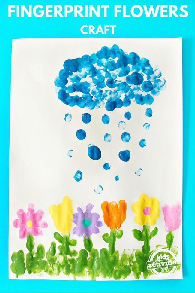 fingerprint flowers craft