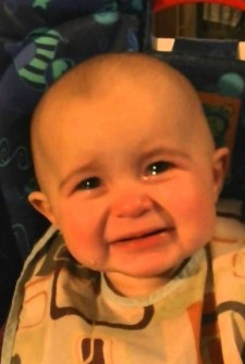 This baby is CRYING for the sweetest reason EVER!