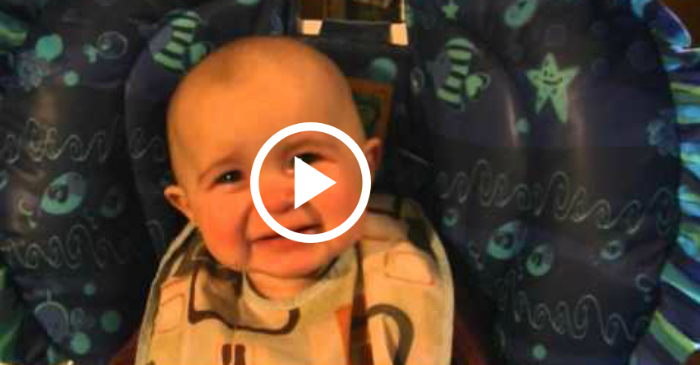 baby cries when mom sings