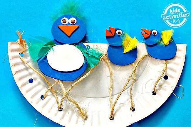 Baby Bluebirds Paper Plate Craft