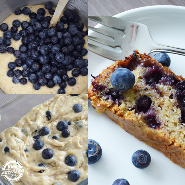blueberry lemon bread square