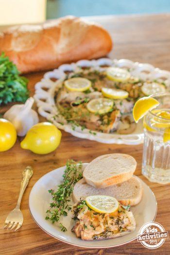 slow cooker chicken lemon thyme