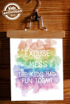 Free Printable Watercolor Art for Parents