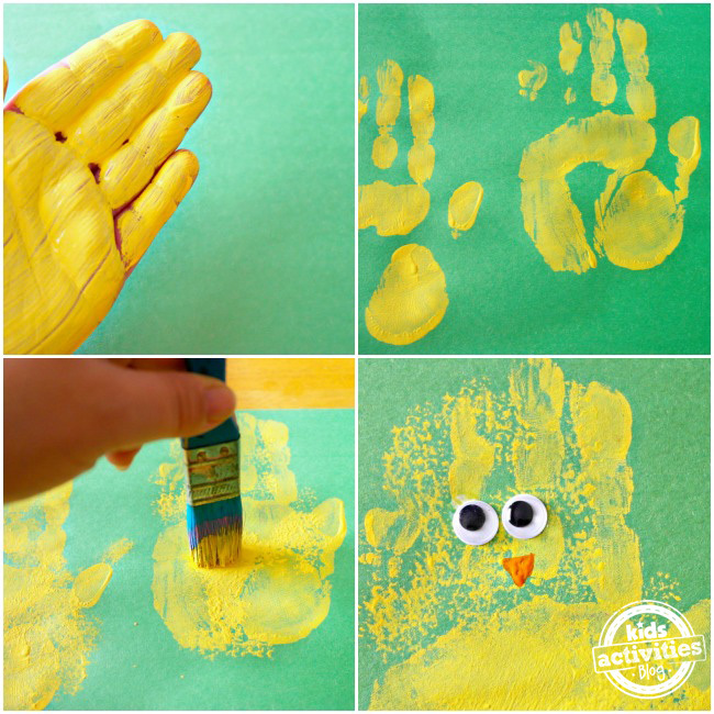 Spring Chick Handprint Craft