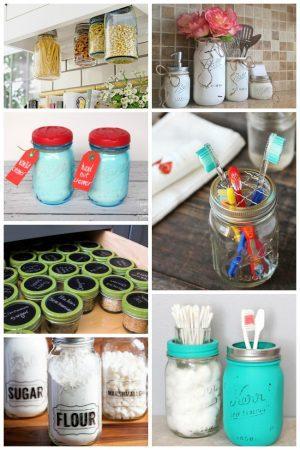 18 Effective Ways To Organize With Mason Jars