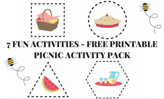 Free Worksheets preschool activities printables : Picnic Printable Preschool Worksheet Pack
