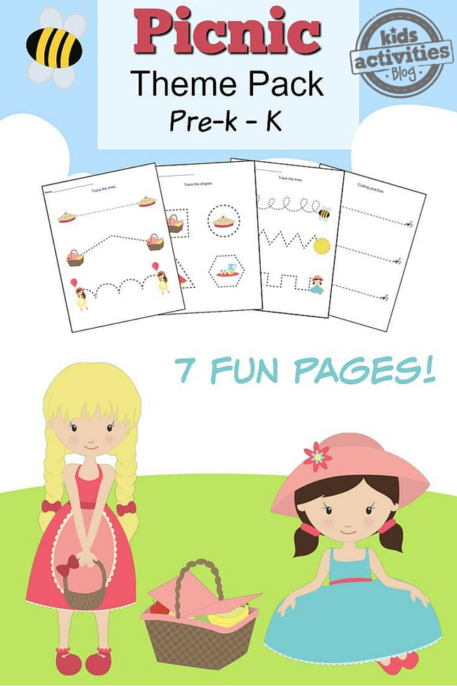 Picnic Printable Preschool Worksheet Pack
