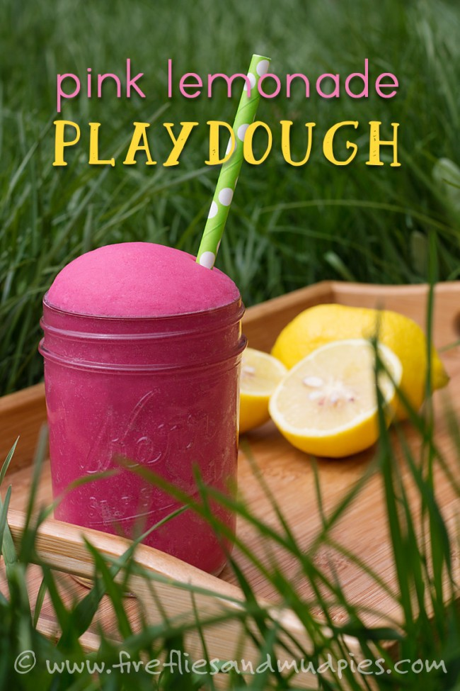 Pink Lemonade Playdough