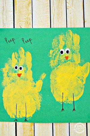 Spring Chick Handprint Craft