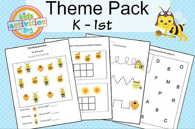 Bees Printable Kindergarten Worksheet Pack – Kindergarden Worksheet