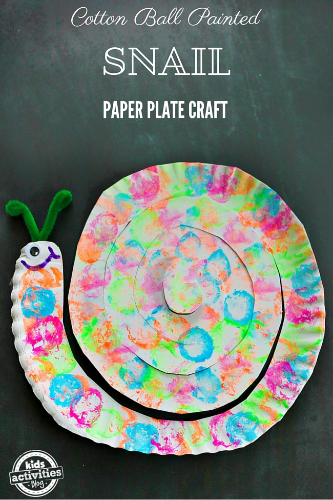 paper plate craft ideas for kids cotton painted snail paper plate craft 7864
