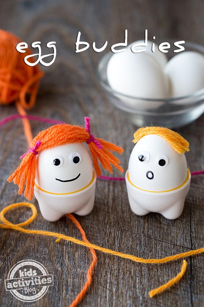 Make Egg Buddies for a fun breakfast idea!