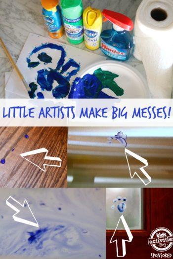 Little Artists make big messes collage