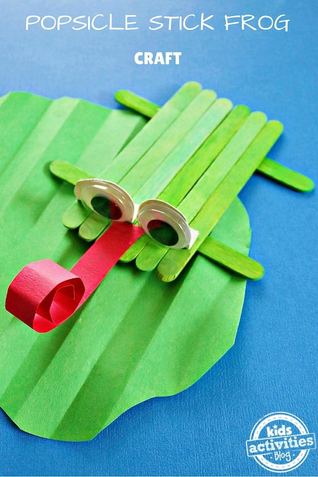 Frog Craft Popsicle Sticks