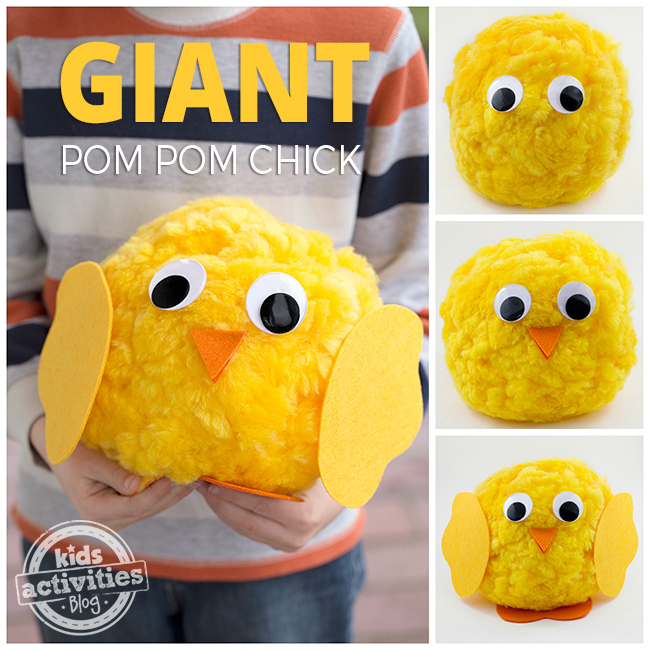 Giant Pom Pom Chicks