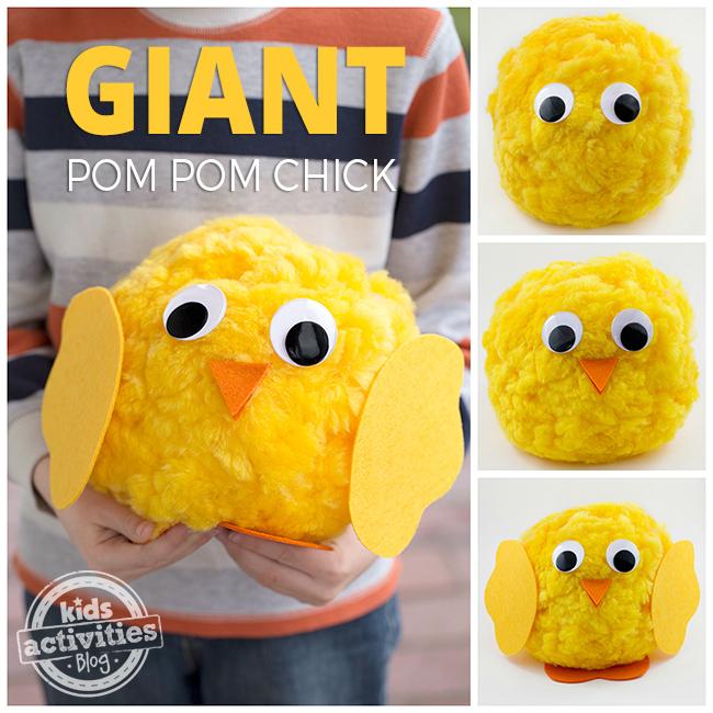 Giant Pom Pom Chicks
