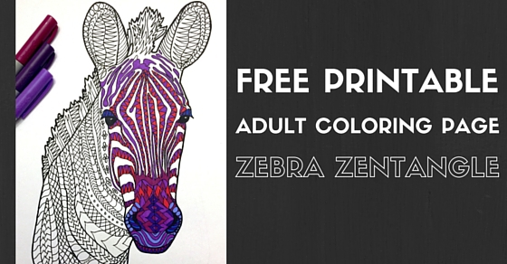 Coloring Pages for Kids Zebra Zentangle