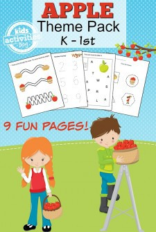 APPLE PRINTABLE KINDERGARTEN WORKSHEET PACK