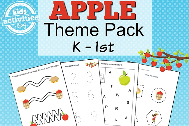 apple printable kindergarten worksheet