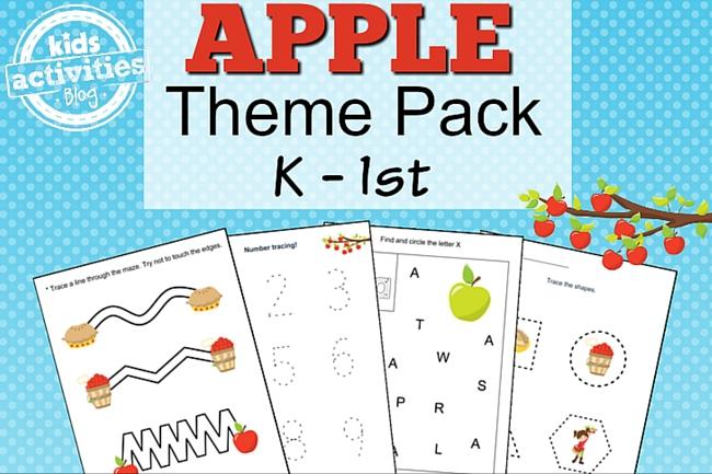 apple printable kindergarten worksheet