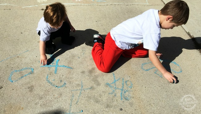 chalk melts outside