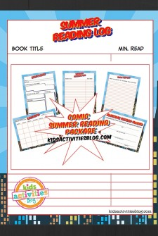 Comic Summer Reading Printable Pack