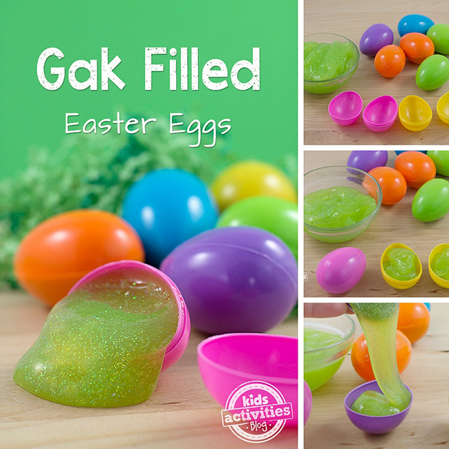 Gak Filled Easter Eggs