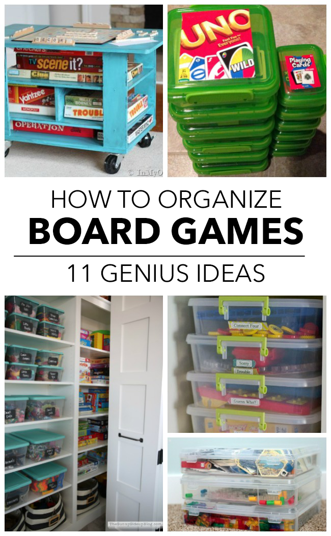 11 ways to finally get your board games organized for Board game storage solutions