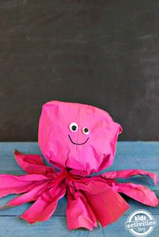 paper bag octopus craft