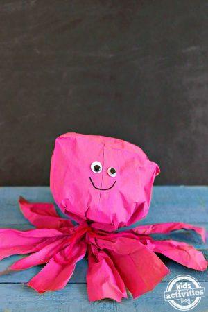 paper bag octopus craft