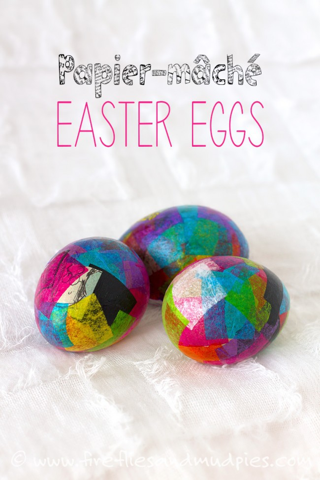 Papier-mâché Easter Egg Craft