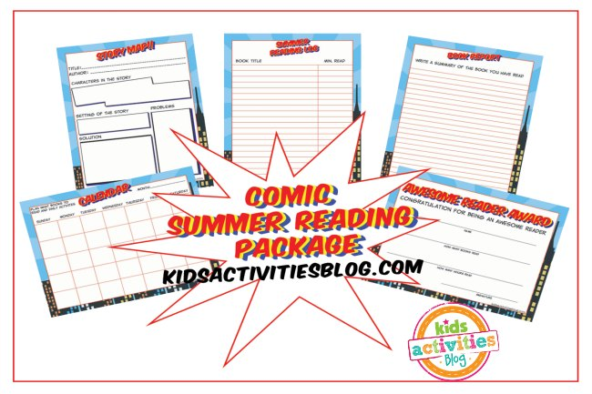 comic summer reading package