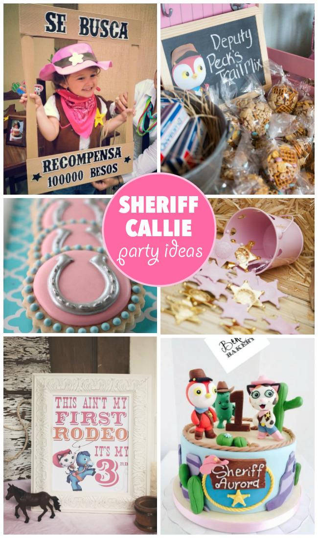 23 idées de fête du shérif Callie