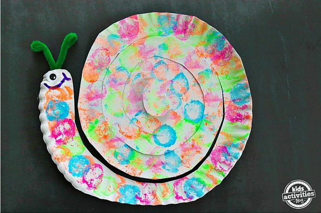 snail paper plate craft