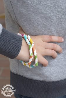 Paper Straw Bracelets