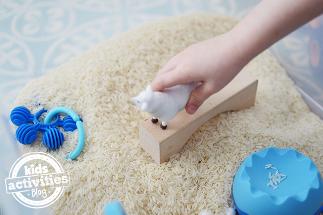Rice Sensory Bin