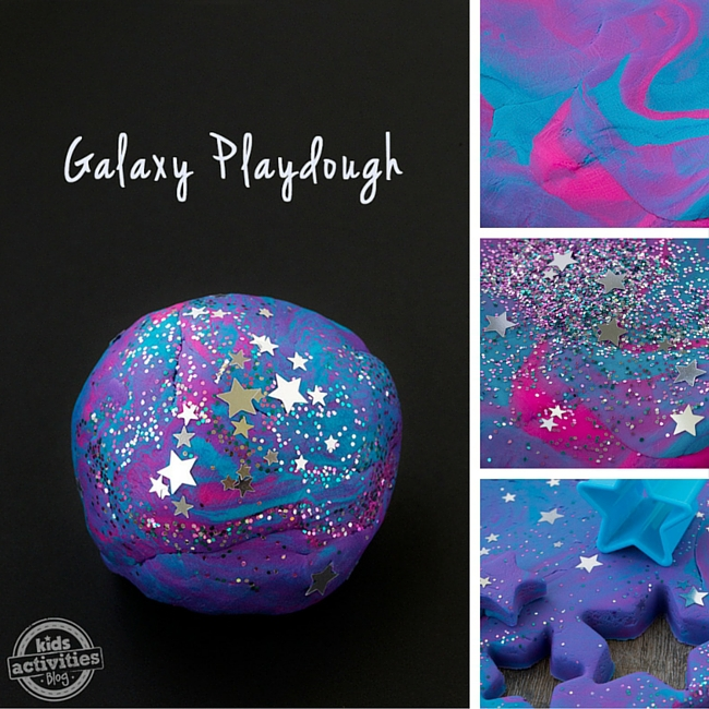 Kids love this fun Galaxy Playdough!