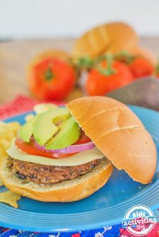 vegetarian black bean burger